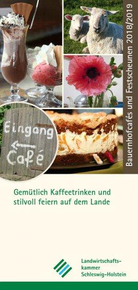 """Faltblatt """"Bauernhofcafés und Festscheunen"""""""
